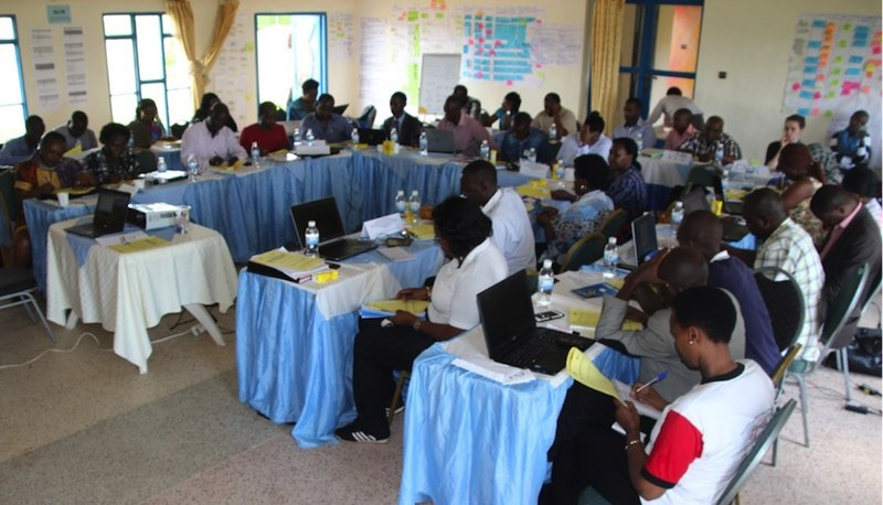 Workshop participants hard at work