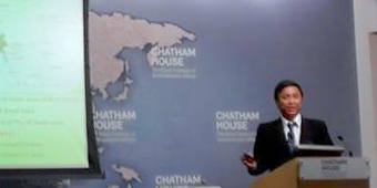 Pe Chit at Chatham House