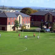 Sports pitch and accomodation