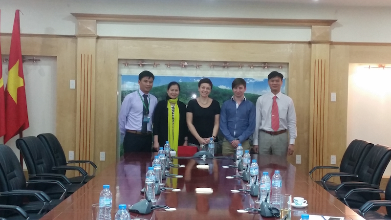 Meeting with the team at Vietnam Forest University.