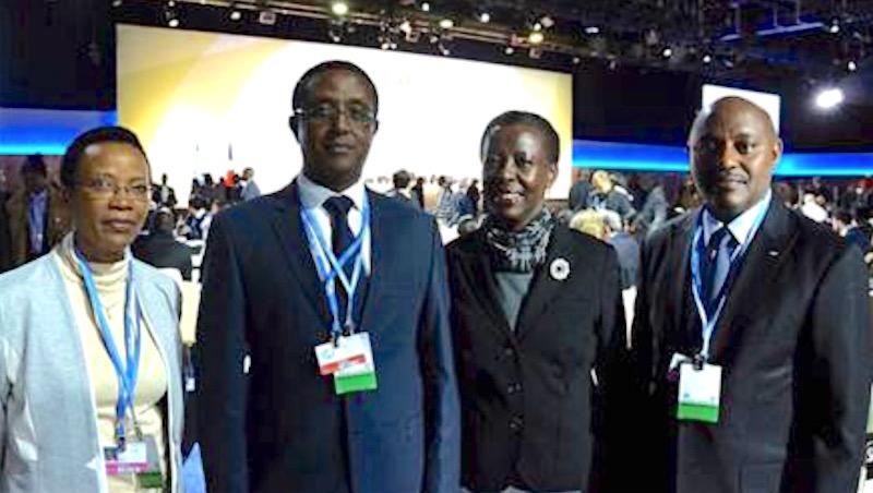 Rwanda delegation at COP21