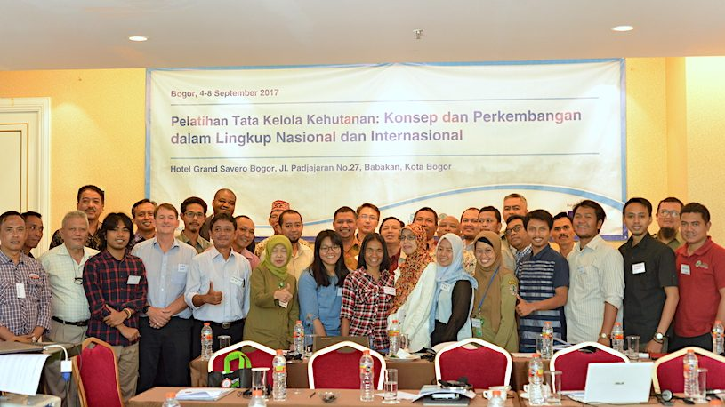 Forest governance training Indonesia