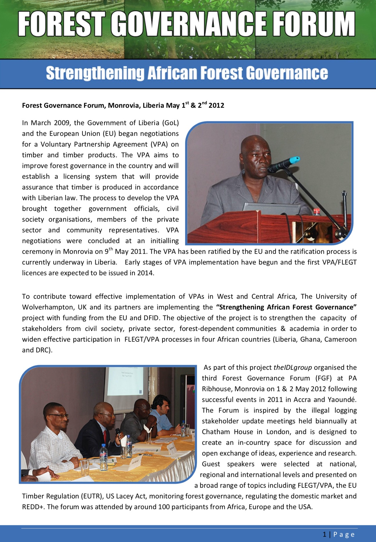 FGF Liberia summary report