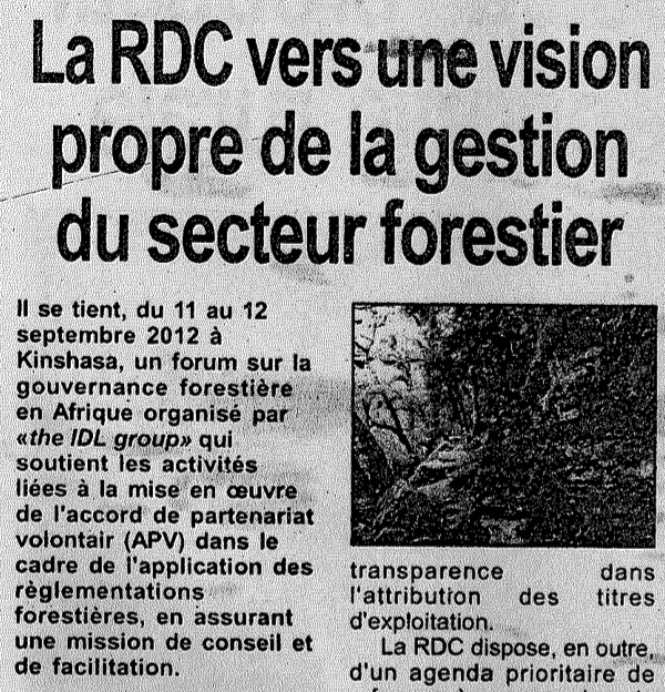 Kinshasa FGF news articles