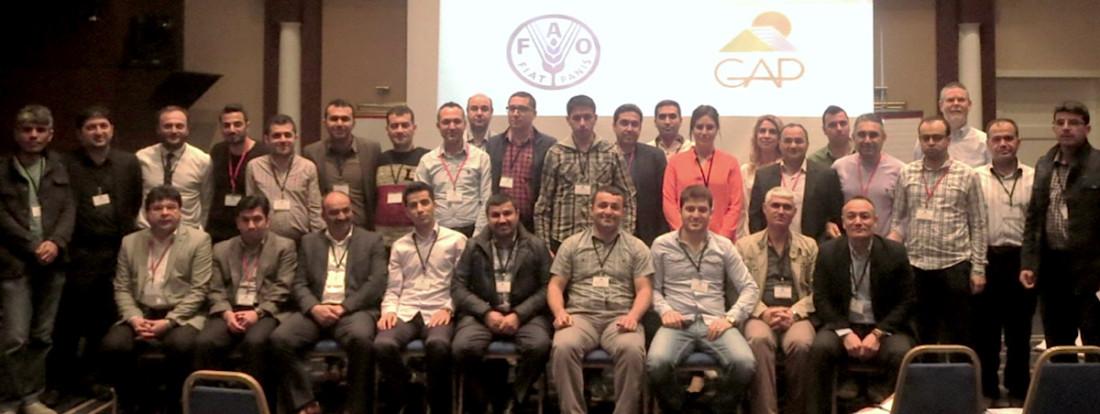 Delegates at workshop in Turkey