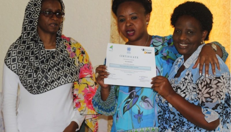 Course Certificates being given out at the end of the workshop