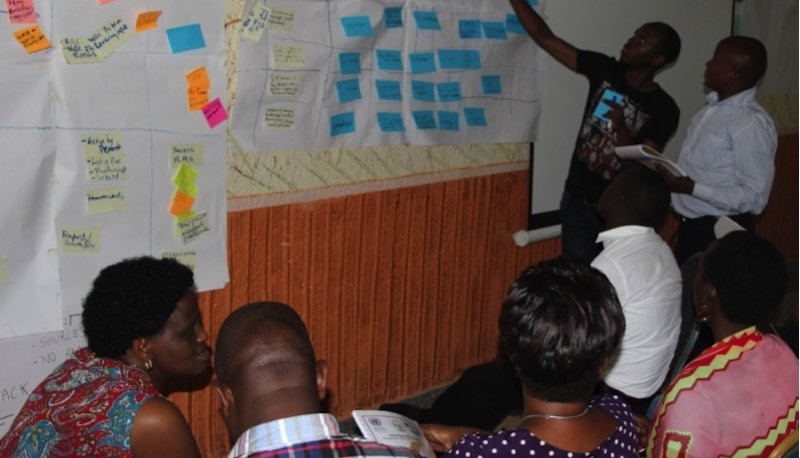 Workshop participants hard at work