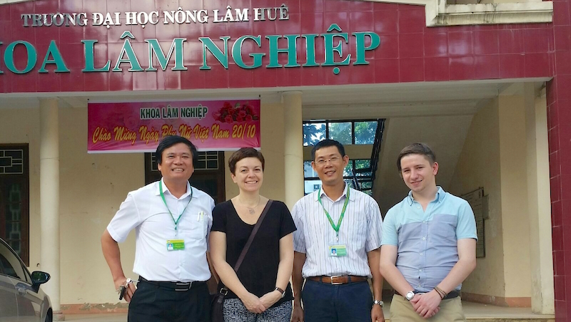 Meeting with the team at Hue University