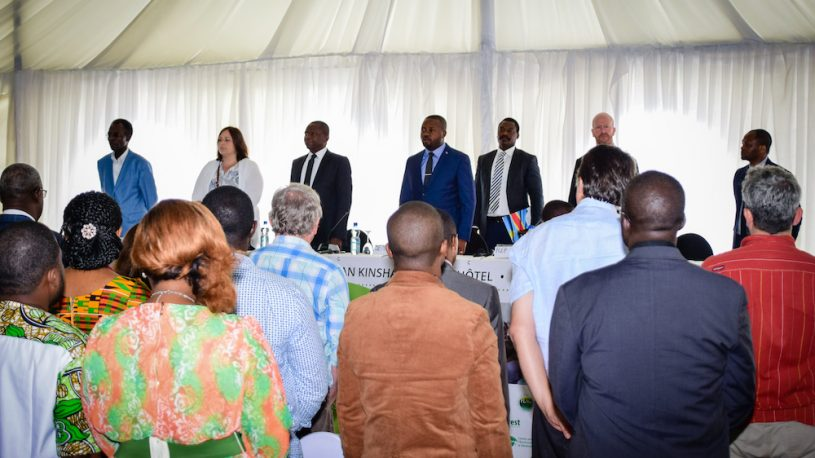 National anthem at the CV4C project launch