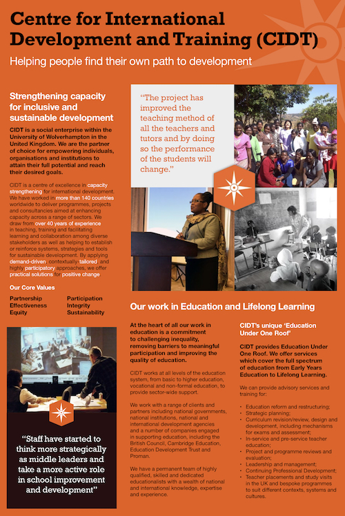Education Lifelong Learning flyer