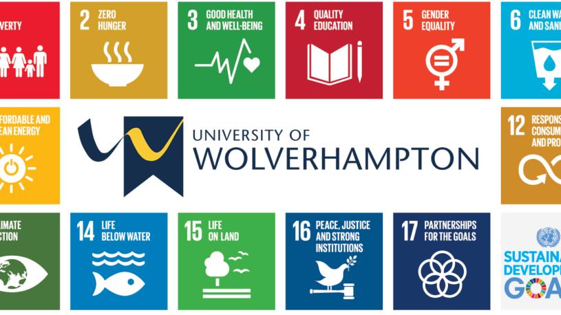 SDG icons with University logo