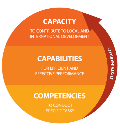 Capacity, capabilities, competences