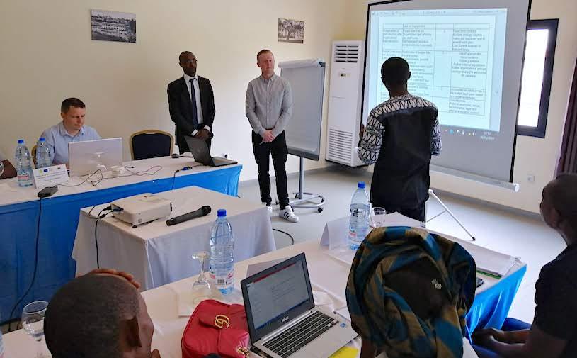 EU project training in Douala