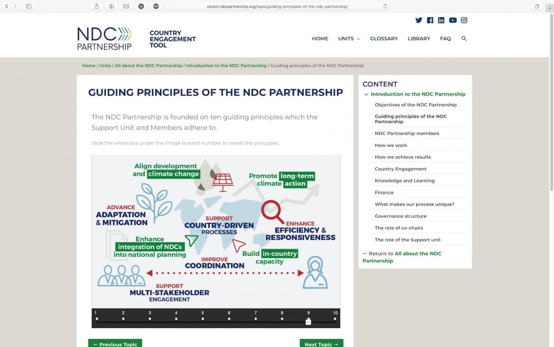 NDC Partnership Country Engagement Online Tool