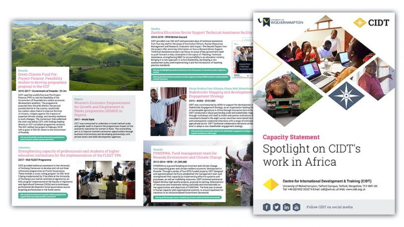 CIDT spotlight on Africa brochure